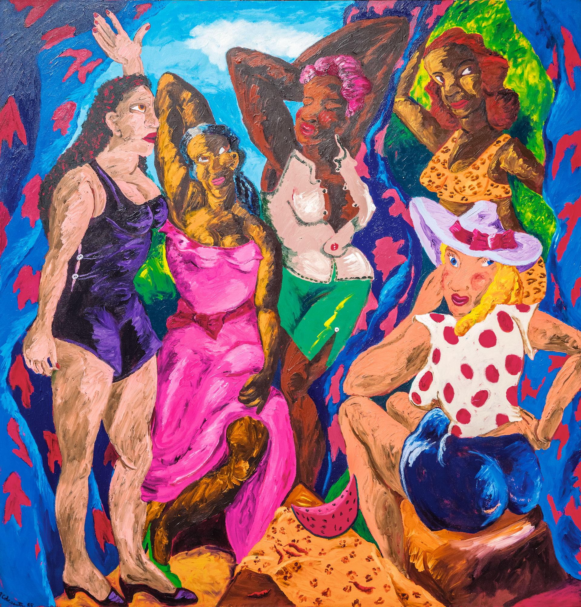 Les Demoiselles d'Alabama: Vestidas by Robert Colescott