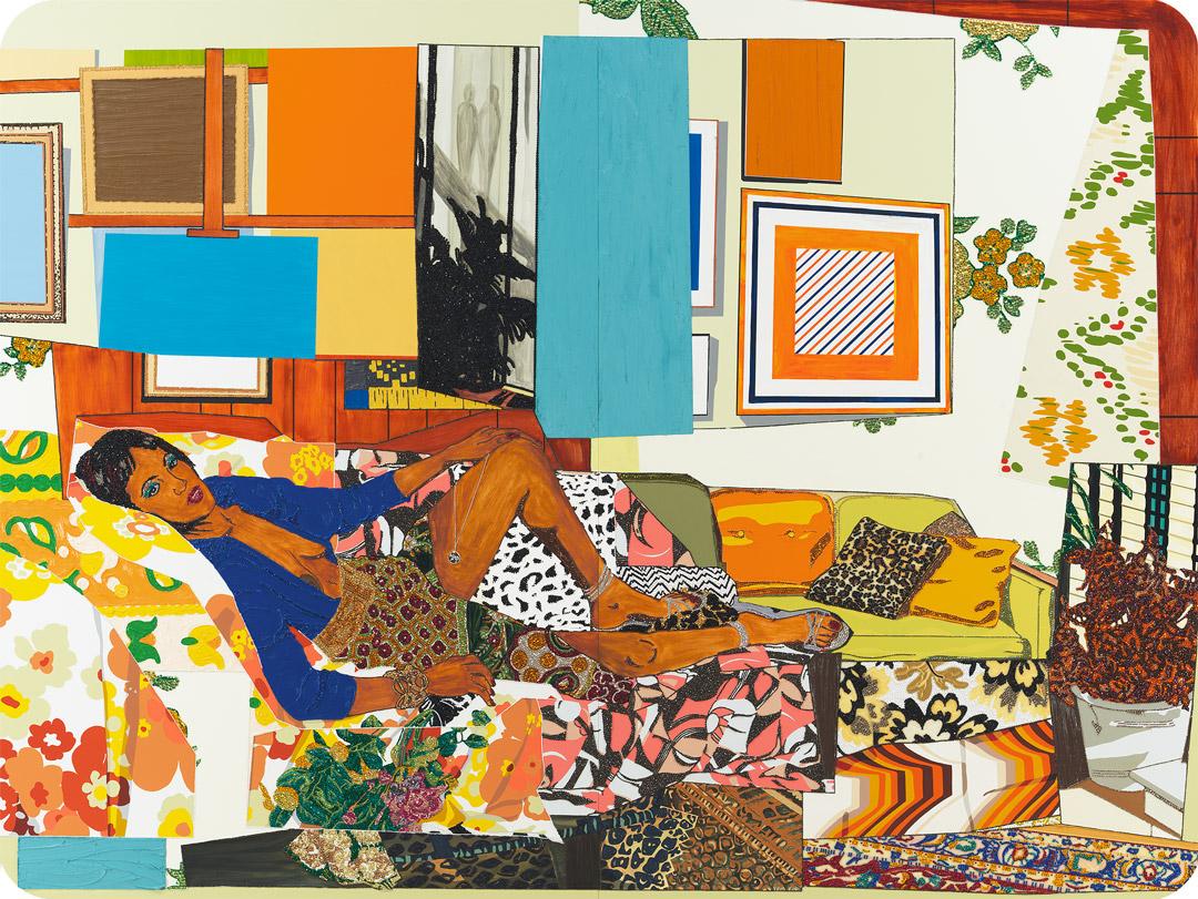 Tamika sur une chaise longue avec Monet